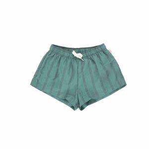Wijs west Tiny Cottons Tiny Cottons Stripes Trunks Green/Ink Blue 8434525191769  Kleding & Accessoires Broeken Korte Broeken