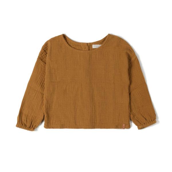 Wijs west Nixnut Nixnut Faf Longsleeve Caramel 8720053280472 SS21Nixnut Kleding & Accessoires Shirts Longsleeves