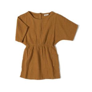 Wijs west Nixnut Nixnut Flow Dress Caramel 8720053280854 SS21Nixnut Kleding & Accessoires Rokjes & Jurkjes