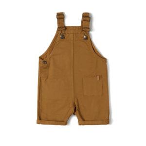 Wijs west Nixnut Nixnut Short Dungaree Caramel 8720053285705 SS21Nixnut Kleding & Accessoires Jumpsuits & Overalls