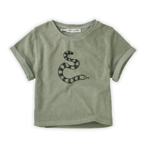 Wijs west Sproet & Sprout Sproet & Sprout Sweat T-shirt Terry Snake 1138187049617 SS21 Sproet Kleding & Accessoires Shirts T-shirts