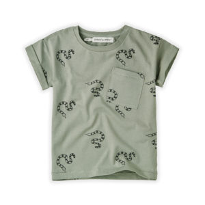 Wijs west Sproet & Sprout Sproet & Sprout T-shirt Snake 1138187050712 SS21 Sproet Kleding & Accessoires Shirts T-shirts