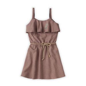 Wijs west Sproet & Sprout Sproet & Sprout Ruffle Dress Mini Check 1138187054161 SS21 Sproet Kleding & Accessoires Rokjes & Jurkjes