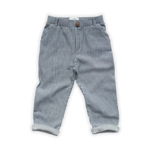 Wijs west Sproet & Sprout Sproet & Sprout Chino Pants Denim Stripe 1138187056288 SS21 Sproet Kleding & Accessoires Broeken