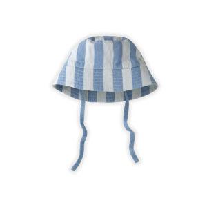 Wijs west Sproet & Sprout Sproet & Sprout Hat Denim Stripe 1138187057810 SS21 Sproet Kleding & Accessoires Accessoires Hoedjes & Petjes