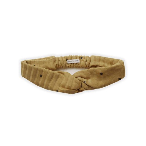 Wijs west Sproet & Sprout Sproet & Sprout Turban Headband Dots Desert 1138187057858 SS21 Sproet Kleding & Accessoires Accessoires Haarbanden & Speldjes