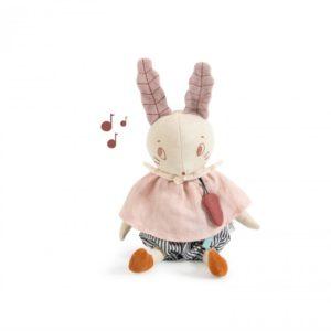 Muziekknuffel konijn Après la pluie