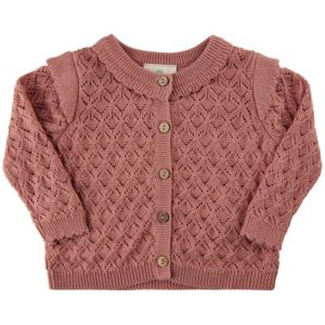En Fant Cardigan Knit Rose Dawn