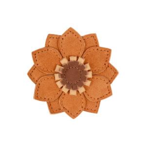 Wijs west Donsje  Donsje Zaza Fields Hairclip | Sunflower Caramel Nubuck 8719549207635 SS21 Donsje Kleding & Accessoires Accessoires Haarbanden & Speldjes