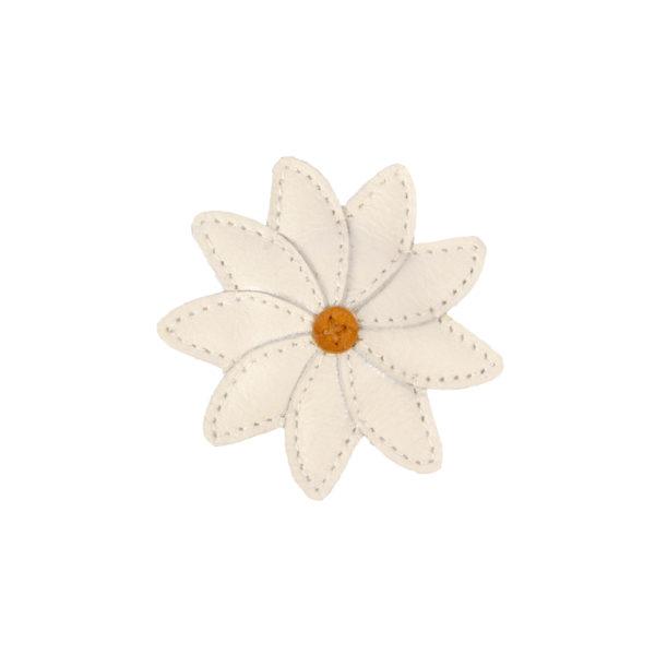 Wijs west Donsje  Donsje Zaza Fields Hairclip | Daisy Off White Leather 8719549186367 SS21 Donsje Kleding & Accessoires Accessoires Haarbanden & Speldjes