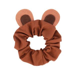 Wijs west Donsje  Donsje Polly Hair Scrunchie | Bear Cognac Classic Leather 8719549207536 SS21 Donsje Kleding & Accessoires Accessoires Haarbanden & Speldjes
