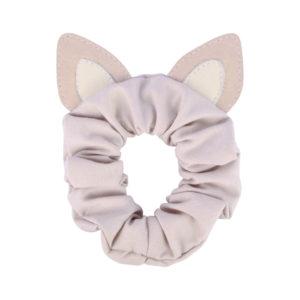 Wijs west Donsje  Donsje Polly Hair Scrunchie | Cat Lilac Nubuck 8719549207543 SS21 Donsje Kleding & Accessoires Accessoires Haarbanden & Speldjes