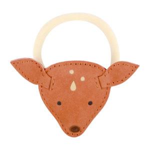 Wijs west Donsje  Donsje Josy Hair Tie | Deer Walnut Nubuck 8719549208045 SS21 Donsje Kleding & Accessoires Accessoires Haarbanden & Speldjes