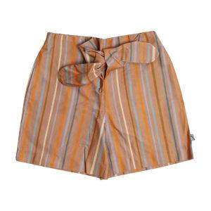 Wijs west CarlijnQ CarlijnQ Multi-Color Stripes - Paperbag Shorts 8720289687083 SS21 CarlijnQ Kleding & Accessoires Broeken Korte Broeken
