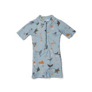 Liewood Max Swim Suit Sea creature blue