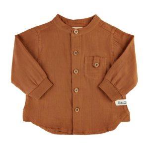 En Fant Overhemd Roasted Pecan