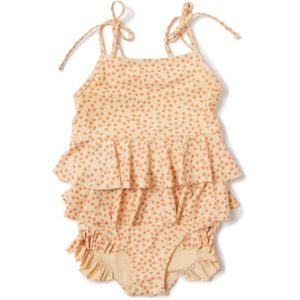 Konges Sløjd Manuca Frill Swimsuit Buttercup Orange
