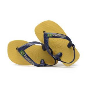 Wijs west Havaianas Havaianas Baby Brasil Logo Gold Yellow Havaianas Kleding & Accessoires Schoenen Sandalen