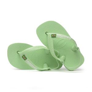 Wijs west Havaianas Havaianas Baby Brasil Logo Hydro Green Havaianas Kleding & Accessoires Schoenen Sandalen