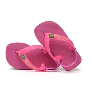 Wijs west Havaianas Havaianas Baby Brasil Logo Pink Flux Havaianas Kleding & Accessoires Schoenen Sandalen