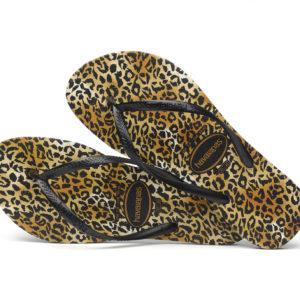 Wijs west Havaianas Havaianas Slim Leopard Black/Black Havaianas Kleding & Accessoires Schoenen Sandalen