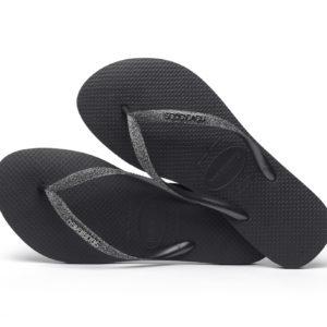 Wijs west Havaianas Havaianas Slim Glitter Black/ Dark Metallic Grey Havaianas Kleding & Accessoires Schoenen Sandalen