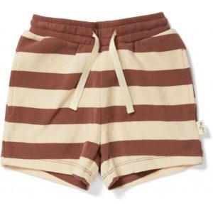 Konges Sløjd Lou Shorts Striped Fig Brown
