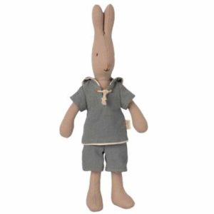 Maileg Rabbit size 1, Sailor - Dusty blue