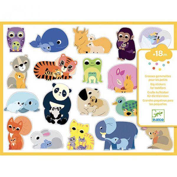 Djeco Stickers Moeder en Baby Dieren