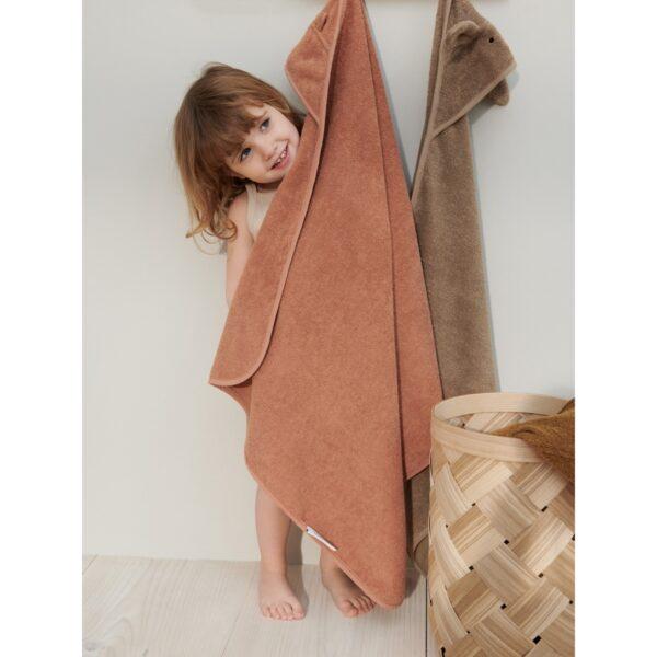 Liewood Albert Hooded Towel Mr bear Tuscany Rose