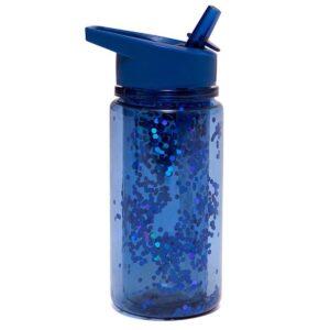 Petit Monkey Drinking Bottle Glitter Night Blue