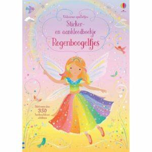 Sticker en aankleedboekje regenboogelfjes