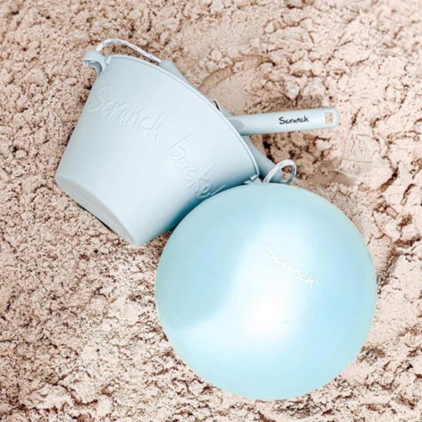 Scrunch Strandbal blauw, 23cm (opvouwbaar)