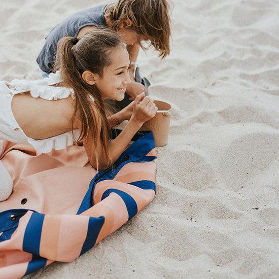 Play & Go The Outdoor Opbergzak & speelzak Mokka Stripes