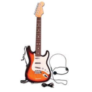 Elektronische rockgitaar met microfoon