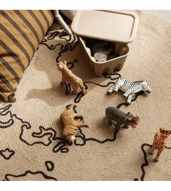 Ferm Living Houten Handgemaakte Nijlpaard