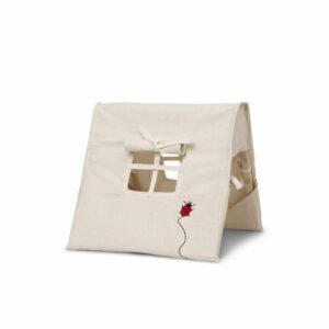 Ferm Living Poppen Tent - Ladybird Embroidery - Natural