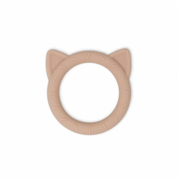 Mushie Bijtring Cat - Blush