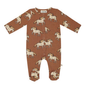 Wijs west CarlijnQ CarlijnQ Wild Horse - Newborn Jumpsuit 8720528500791 AW21Carlijn Kleding & Accessoires Baby Pakjes