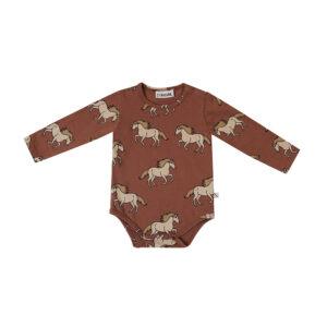 Wijs west CarlijnQ CarlijnQ Wild Horse - Bodysuit Longsleeve 8720528500135 AW21Carlijn Kleding & Accessoires Baby Shirts