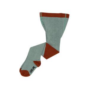 Wijs west CarlijnQ CarlijnQ Tights - Diagonal Blue/Ginger 8720528504539 AW21Carlijn Kleding & Accessoires Sokken & Maillots