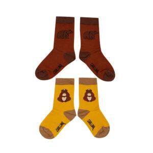 Wijs west CarlijnQ CarlijnQ Socks Set - Alpine Marmot & Grizzly  8720528504034 AW21Carlijn Kleding & Accessoires Sokken & Maillots