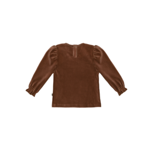 Wijs west House of Jamie House of Jamie Puff Shoulder Jumper Ginger Bread Rib  8719654071015 AW21HoJamie Kleding & Accessoires Jumpsuits & Overalls