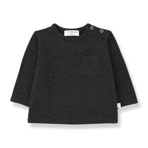 Wijs west 1+ in the Family 1+ In The Family Oriol Charcoal 8448212011421 +1FamilyAw21 Kleding & Accessoires Baby Shirts