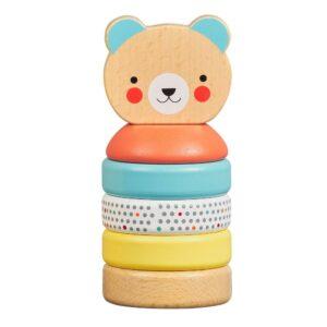 Happy Bear Wooden Stacker Toy