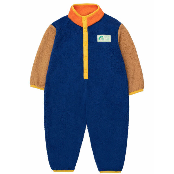 Wijs west Tiny Cottons Tiny Cottons Color Block Polar One-Piece 8434525220827 AW21Tiny Kleding & Accessoires Baby Rompers