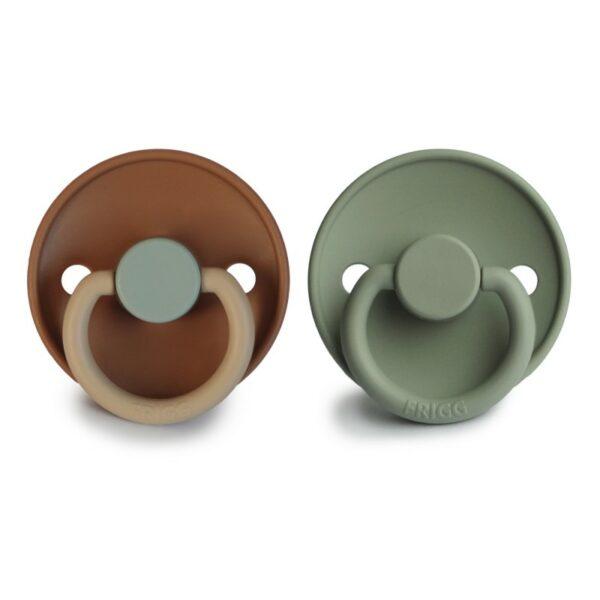 FRIGG 2-pack Color Latex Spenen - Safari/ Sage T1
