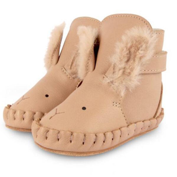 Donsje Kapi Exclusive Lining   Winter Bunny Light Rust Leather