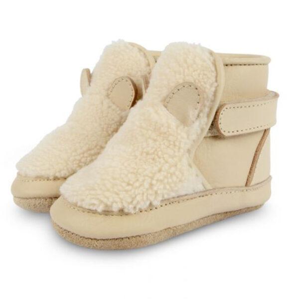 Donsje Richy Lining | Polar Bear Off White Curly Faux Fur