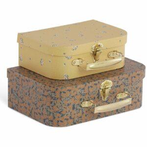 Konges Sløjd 2 Pack Luggage Winter Leaves/Flower Bouquet Mustard